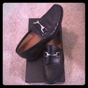 Saks Fifth Avenue men's black loafers/dress shoes